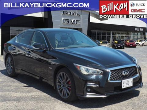Pre-Owned 2018 INFINITI Q50 Red Sport 400 AWD